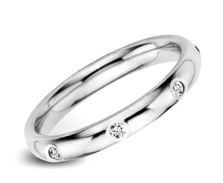 joyas de plata: Anillo con Diamantes Vector