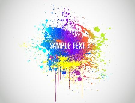 Abstract Paint Splash Background  Vector illustration Illustration