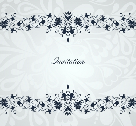 Vintage floral blue frame  Vector background Vector