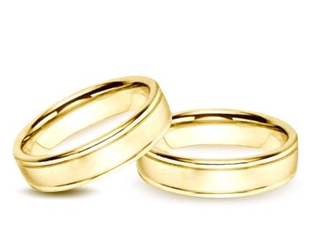 raytracing: Wedding gold Rings  Vector illustration