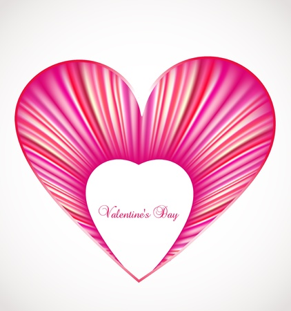 Valentine day card with pink heart  Vector Stock Vector - 14882782