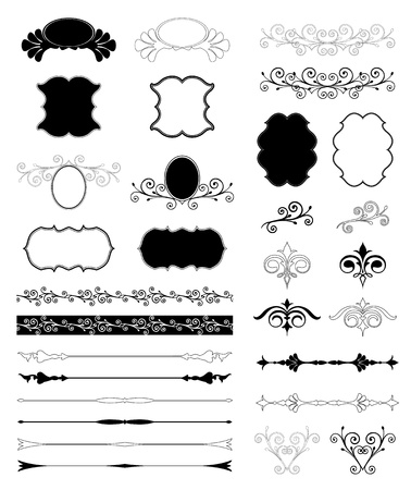 Decorative Floral Design Elements  Vector set Vector