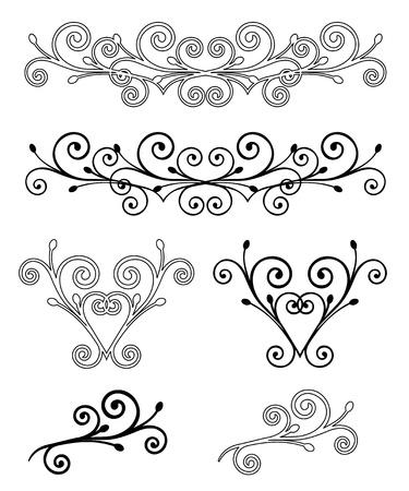 horizontal lines: Establecer Elegance ilustraci�n vectorial Elementos
