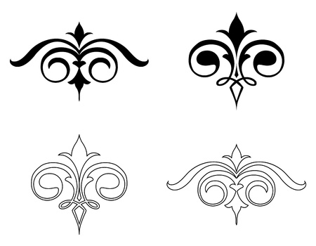 Set Elegance Elements  Vector Stock Vector - 15215365