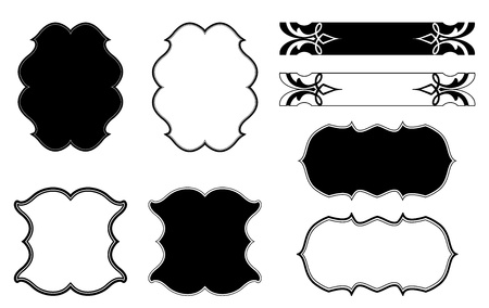 flower clip art: Decorative Floral frame  Vector set Illustration