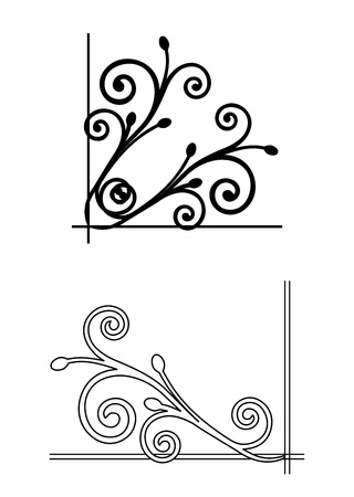 Two floral corners  Vector