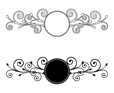 Decorative Floral frames  Vector illustration