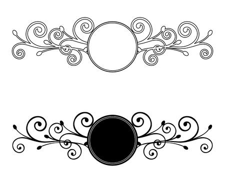 Decorative Floral frames  Vector illustration