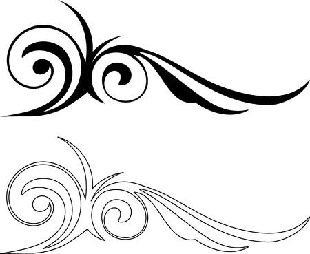 background motif: Two Elegance Elements  Vector illustration Illustration