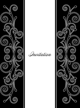 Illustration of luxurious invitation card  Vector Stock Vector - 15215341
