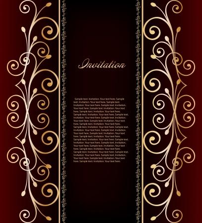 Illustration of luxurious invitation card  Vector Stock Vector - 15215350