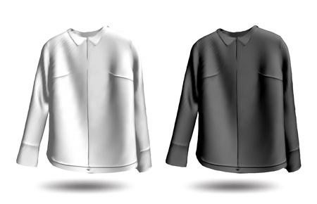 blazer: Black and white jakets  Vector