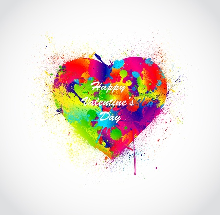 Paint splatter heart  Vector illustration Vector