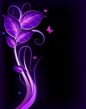 Floral violet background  Vector Stock Vector - 15056823