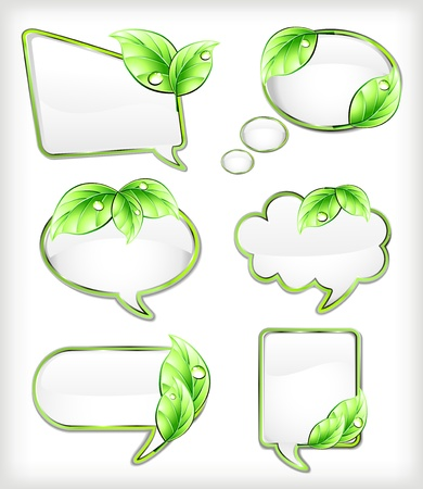 placards: Banners with leaf  Vector illustration
