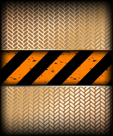 Warning stripe with gold texture  Vector Stock Vector - 15056804