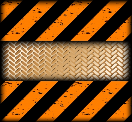 Warning strips with gold texture  Vector Stock Vector - 15056802