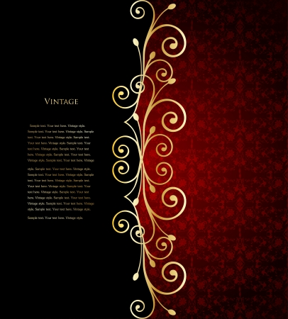Red floral background  Vector illustration Stock Vector - 15056794