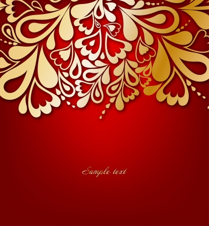 Red Floral Background  Vector illustration Stock Vector - 15121191