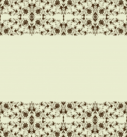 Floral border  Vector illustration Vector