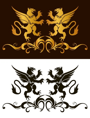 Background heraldry decoration  Vector Vector