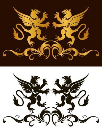 Background heraldry decoration  Vector