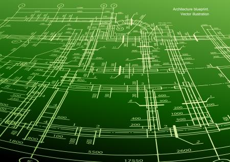 plan maison: Architecture de plan de maison sur fond vert