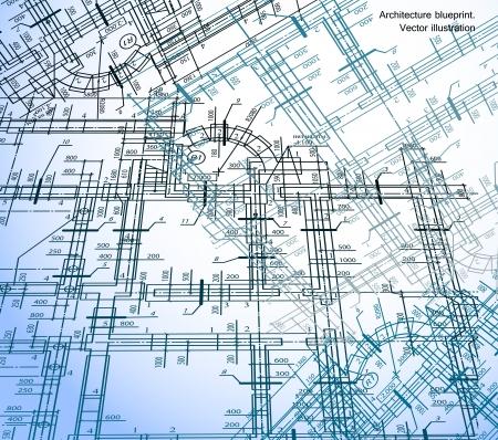 plan maison: Maison de l'Architecture R�gime de fond Illustration