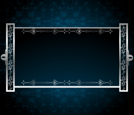 Blue vintage background Stock Vector - 15316067