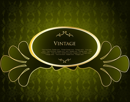Green Label Template Stock Vector - 15316082