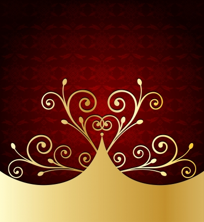 Red Label Template Vector