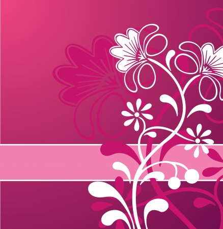 Pink Flower Ornament Stock Vector - 15316062