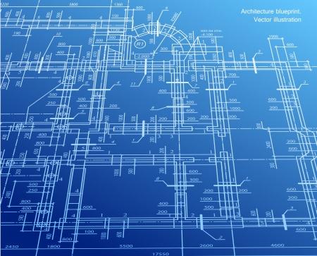 Architecture blueprint background Stock Vector - 15522189