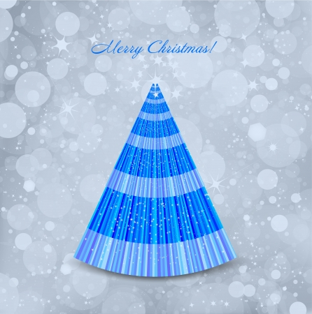 Abstract Christmas blue background with tree  Vector Stock Vector - 15389557