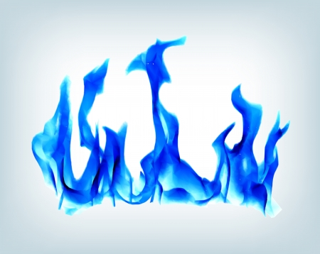 blue flame: Burn flame blue fire  Vector background