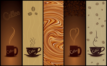 Set of coffee banners illustration