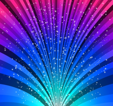 Shine Christmas background with stars   Vector