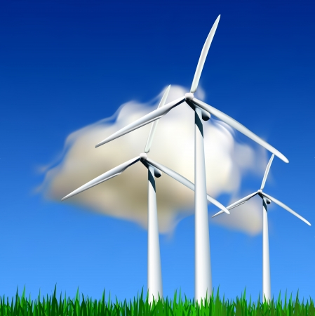 generators: Wind Generators  Vector illustration