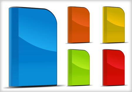 Vector conjunto de cajas de software