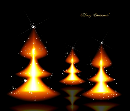 bengal fire: Flaming Christmas trees background