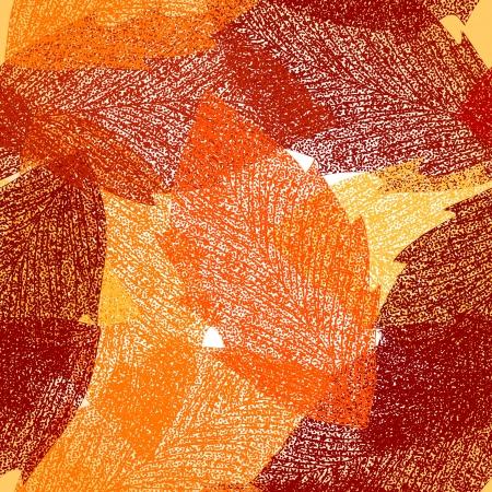 Seamless autumn leaves pattern Illustration