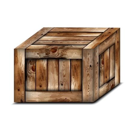 Fragile wooden box   イラスト・ベクター素材