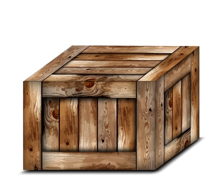 wooden box: Fragile wooden box  Illustration