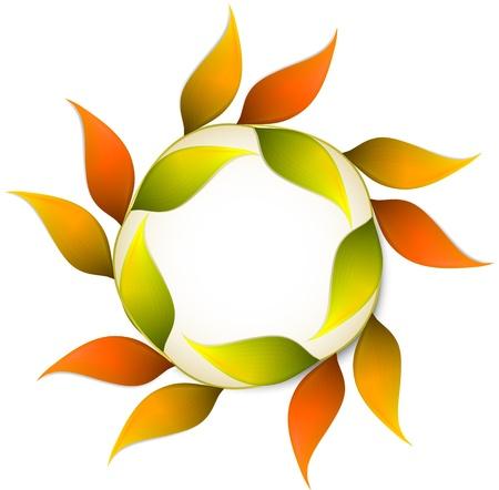 Round autumn banner with orange leafs Stock Vector - 15650825