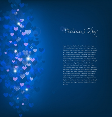 Blue Background with hearts  Vector Stock Vector - 15890538