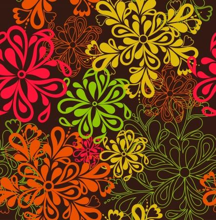 Flower Pattern seamless background  Vector Illustration