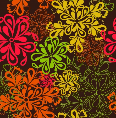 花パターンのシームレスな背景のベクトル