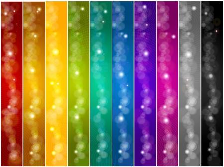 Conjunto de banners Vector colorido