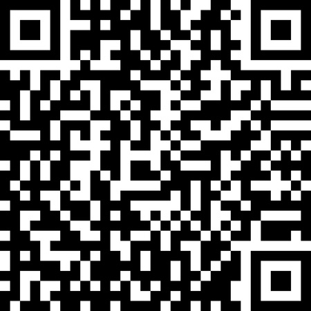 Qr code isolated on white  Vector
