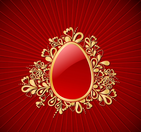 Easter gold Egg Vector
